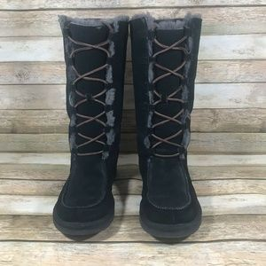 UGG Whitley Womens 6 Boots Suede Leather Shearling